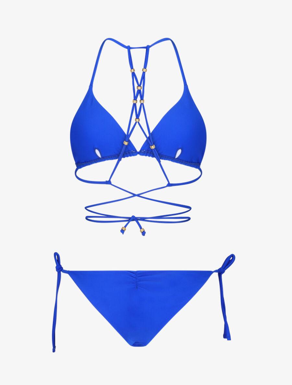 Bikini triangle à détail bijoux - bleu électrique image number null