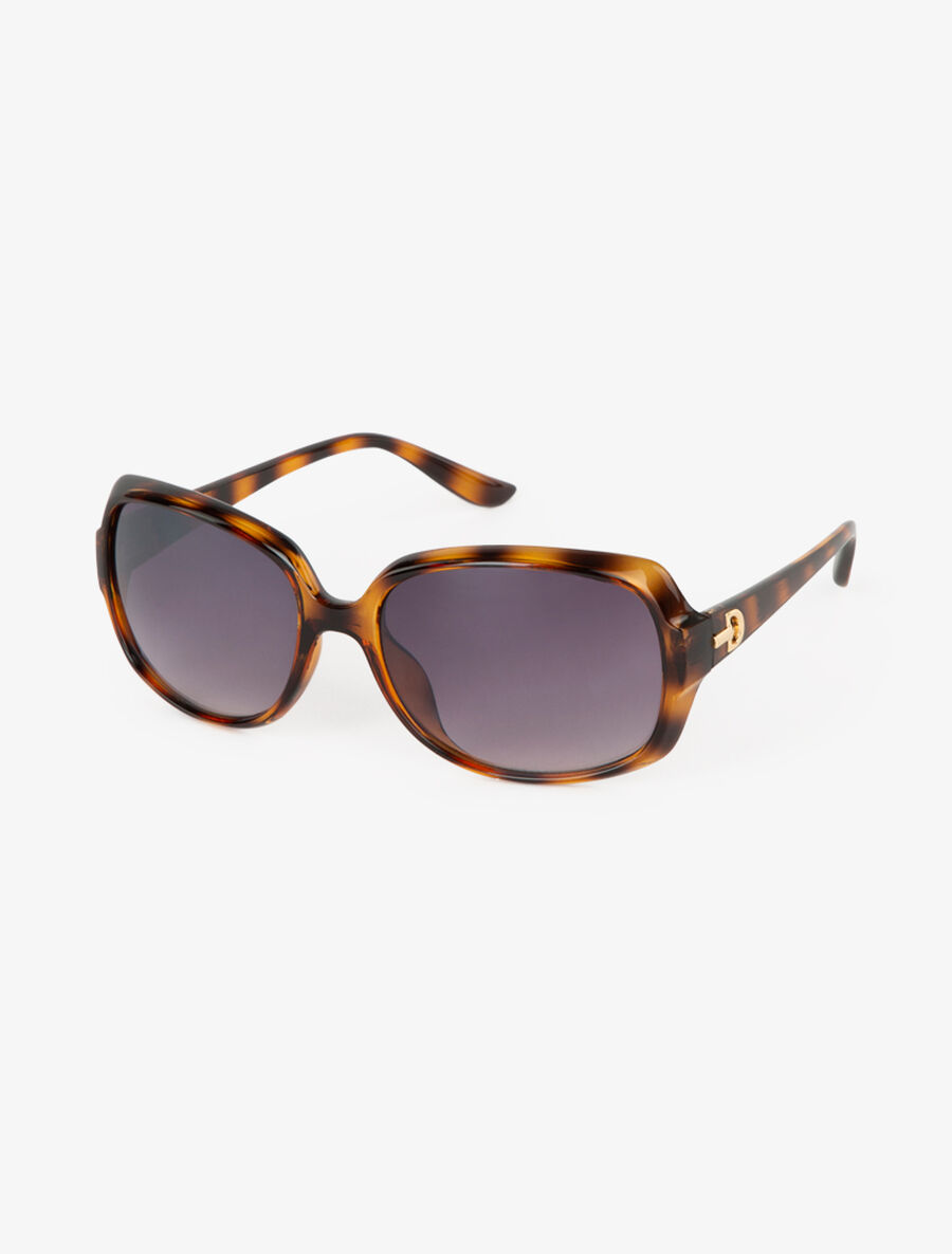 Lunettes rectangulaires semi opaques - camel image number null