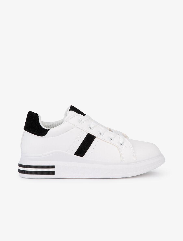Sneakers plates à bandes suédées - noir image number null