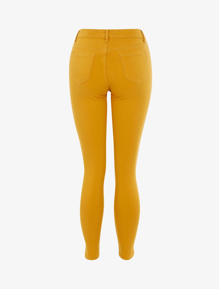 Jean stretch uni - moutarde image number null