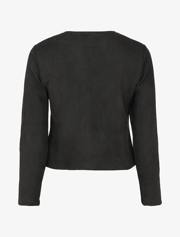 Veste boutonnée en suédine à poches à rabats - noir image number null