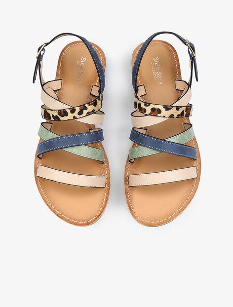 Sandales à brides multiples colorées