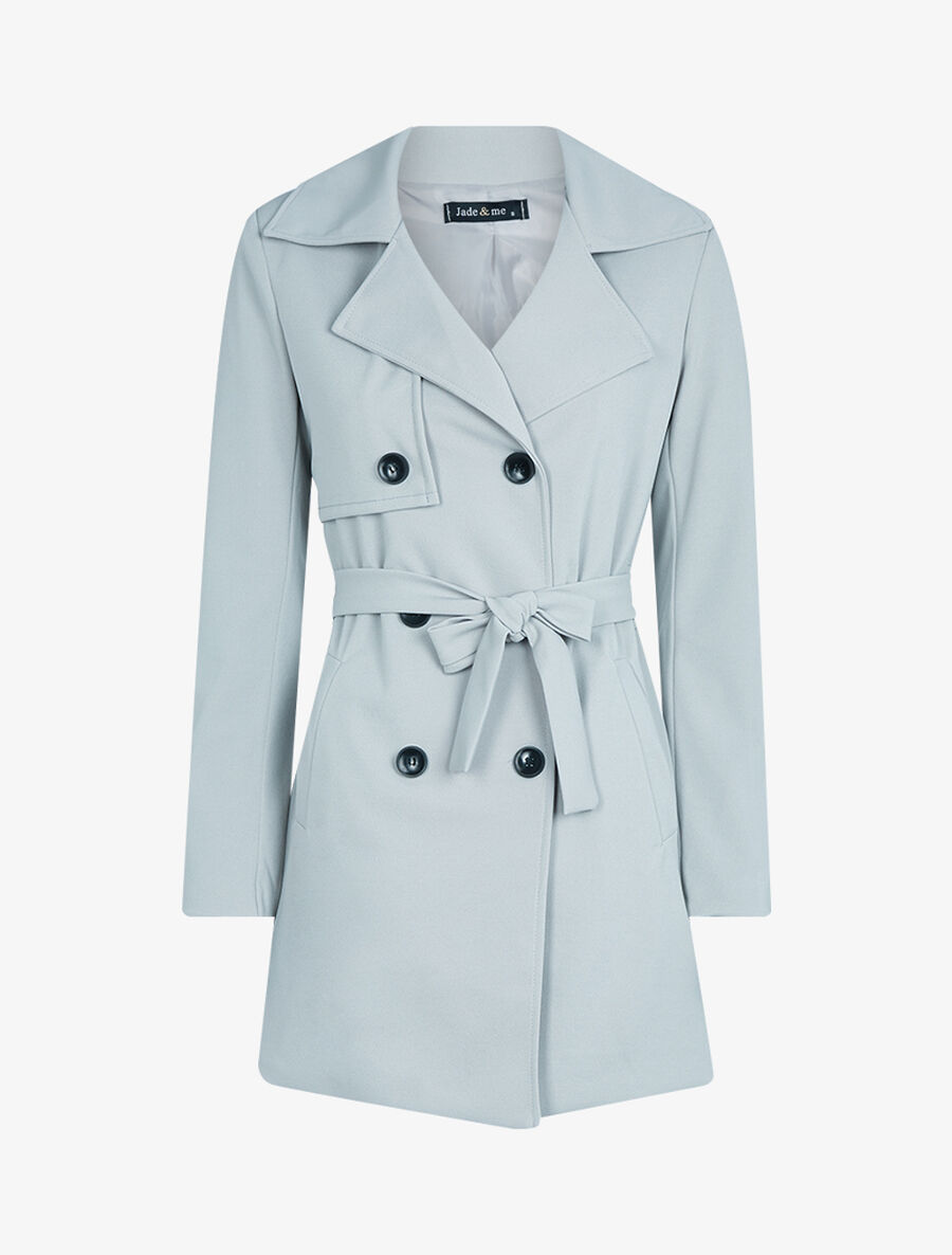 Veste style trench coat - gris clair image number null