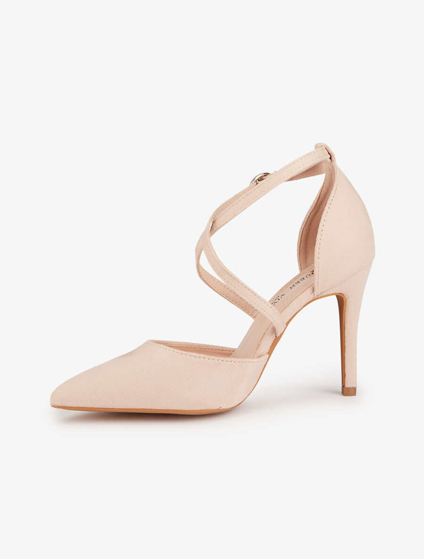 Sandales pointues à brides croisées - nude image number null