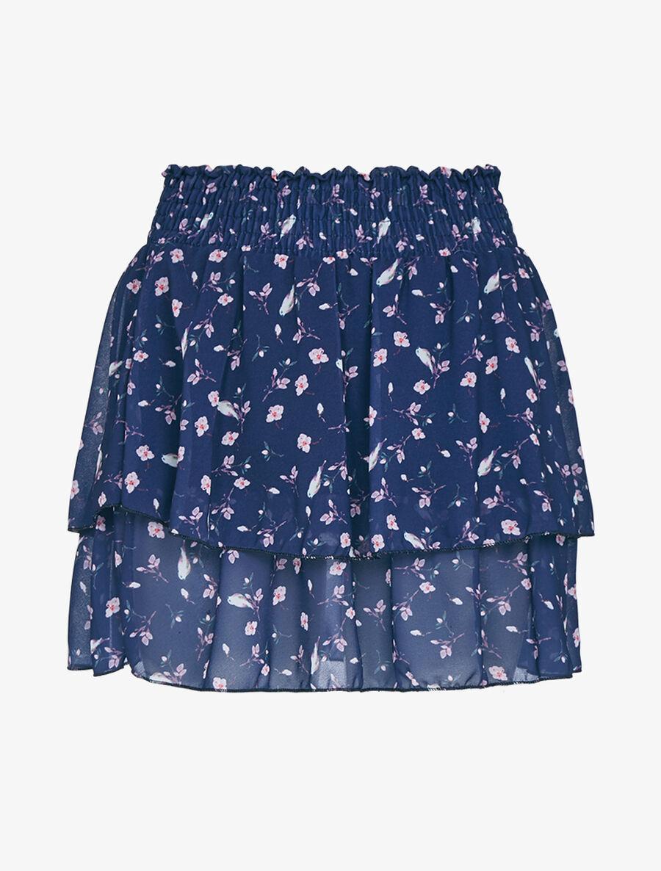 Mini jupe volantée à imprimés image number null