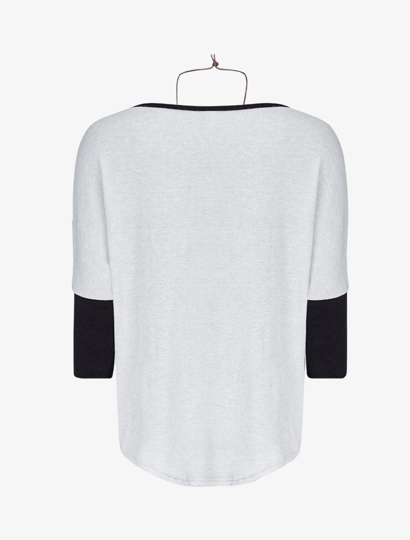 Pull dolman oversize avec sautoir - gris clair image number null