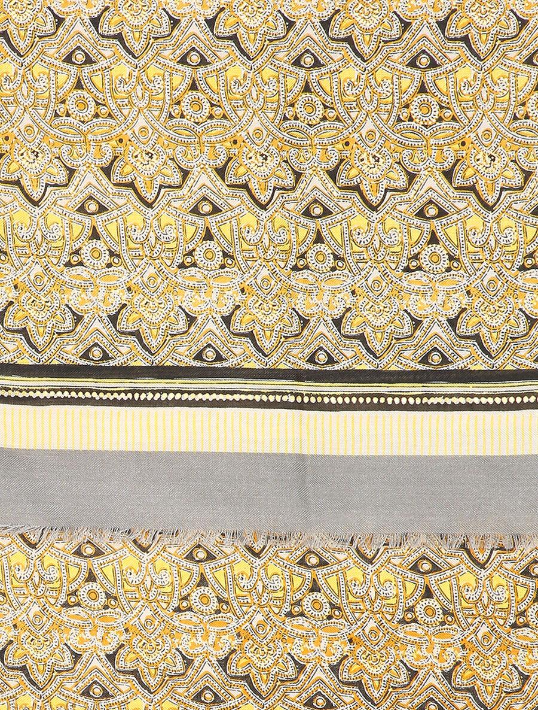 Foulard à imprimé oriental et détails irisés - jaune image number null