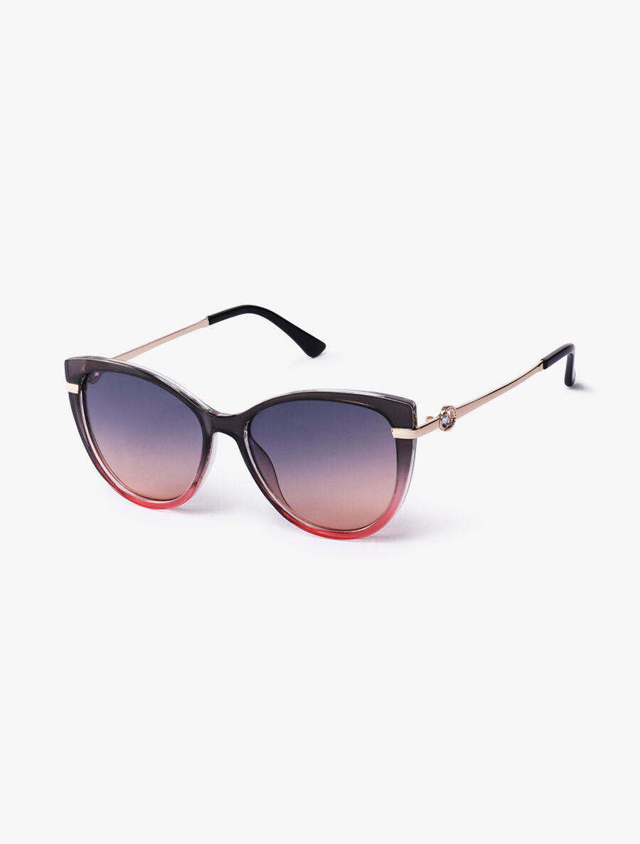 Lunettes cat eye à tenons strassés - rose image number null