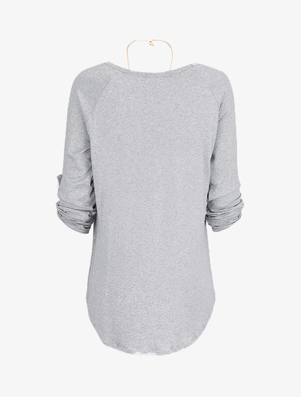 Tunique oversize avec sautoir - gris clair image number null
