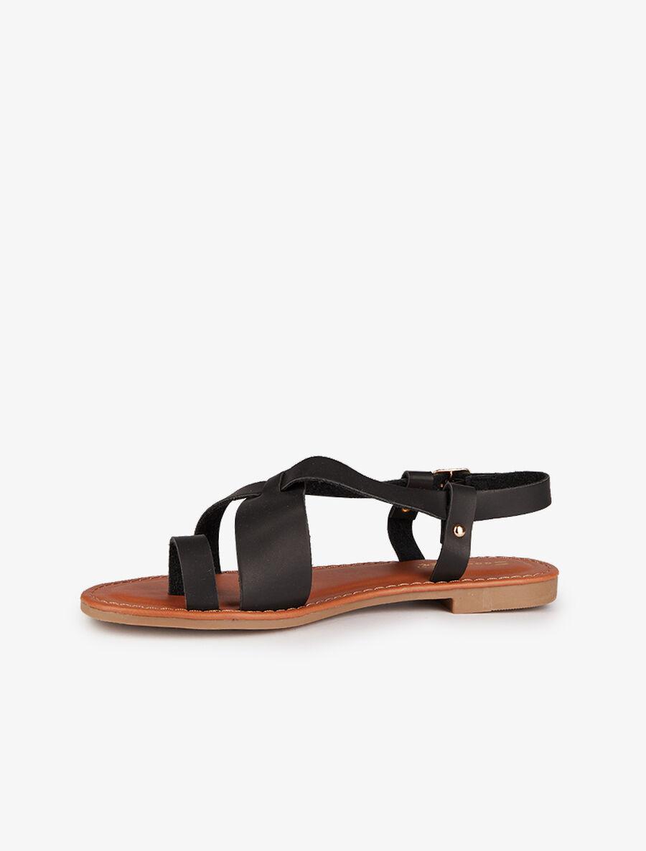Nu-pieds basiques à entredoigt - noir image number null