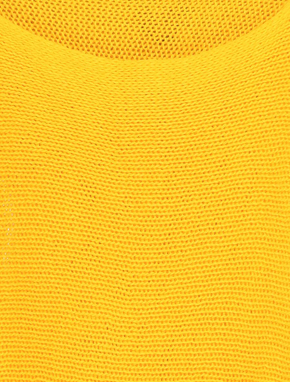 Pull à col bénitier et manches dolman - jaune image number null