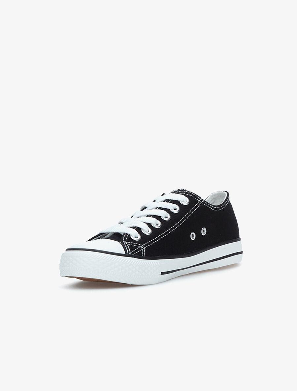 Baskets casual en toile - noir/blanc image number null
