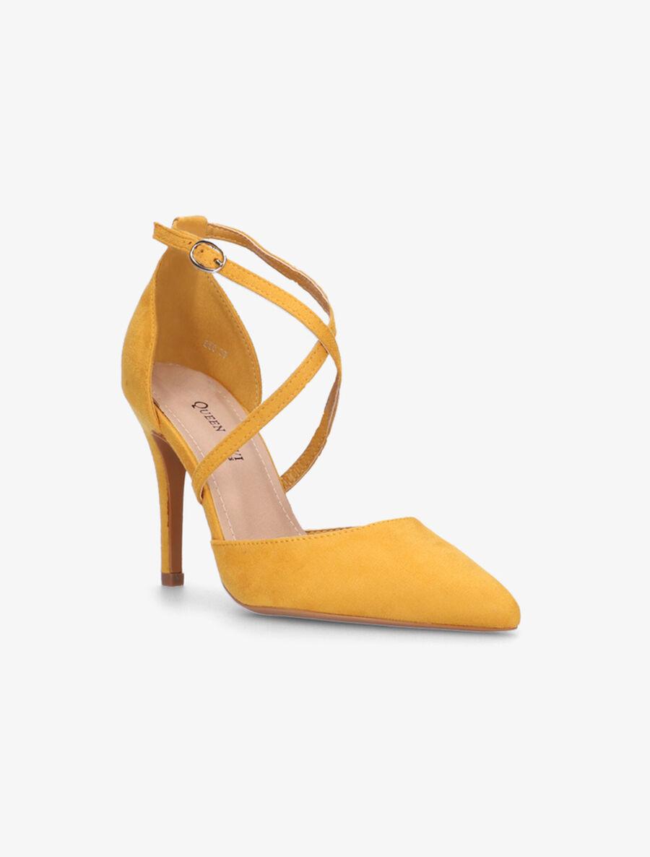 Escarpins ajourés à brides croisées - jaune image number null