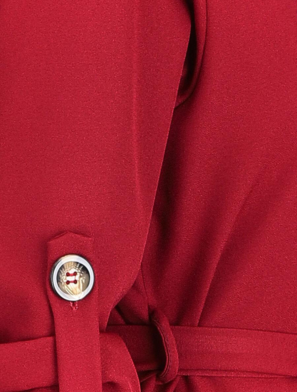 Robe chemise unie - bordeaux image number null