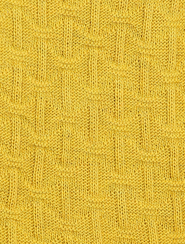 Pull sans manches en maille tressée - moutarde  image number null