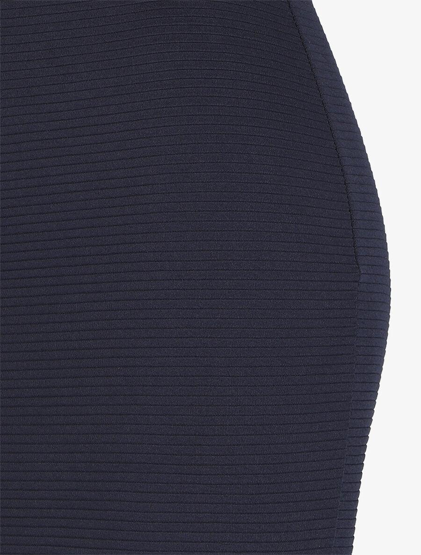 Jupe côtelée à taille haute - marine image number null