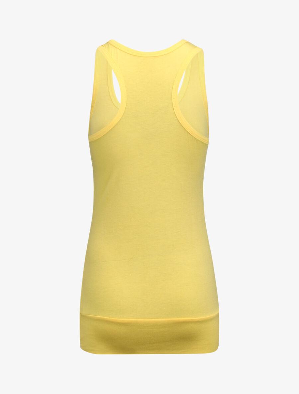 Débardeur long coupe ajustée - jaune image number null