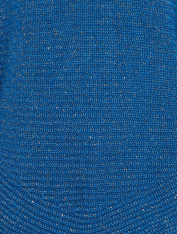 Pull loose irisé à bords arrondis - bleu roi image number null