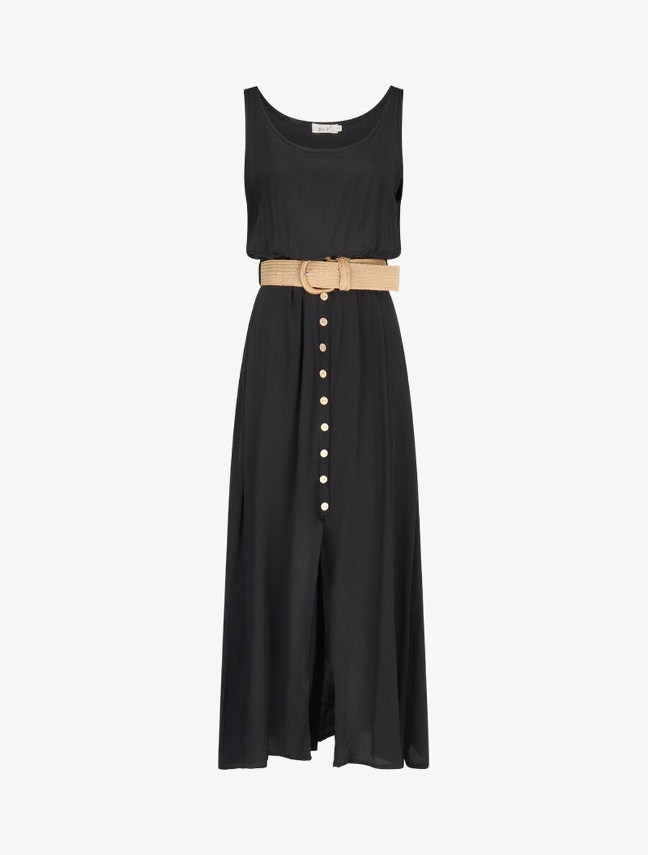 Robe longue à boutons décoratifs - noir image number null