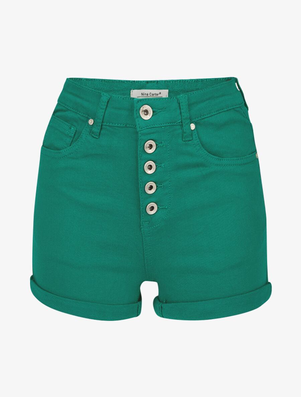 Mini short à boutonnière - vert image number null