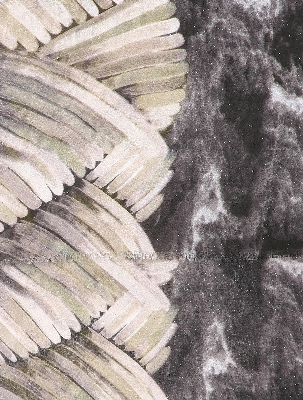 Foulard tie and dye à motifs stylisés et paillettes - noir image number null