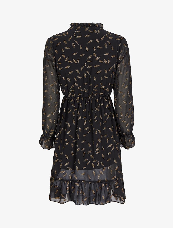 Robe en voile à feuilles pailletées - noir image number null