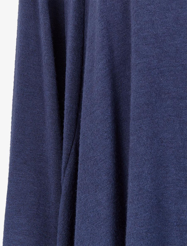 Gilet col châle et pans asymétriques - marine image number null