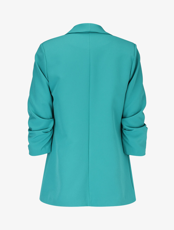 Blazer ouvert à manches plissées - turquoise image number null