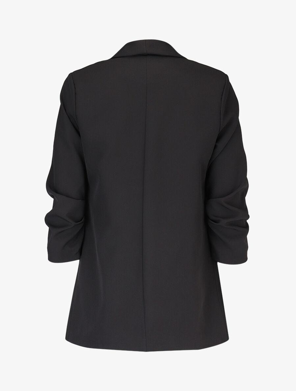 Blazer ouvert à manches plissées - noir image number null