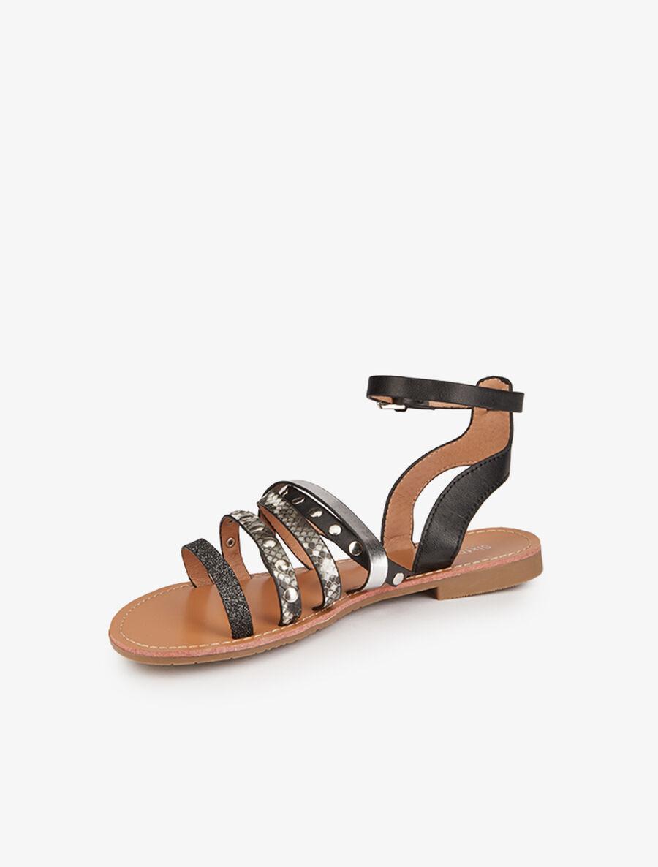 Nu-pieds stylisées multi-lanières - noir image number null