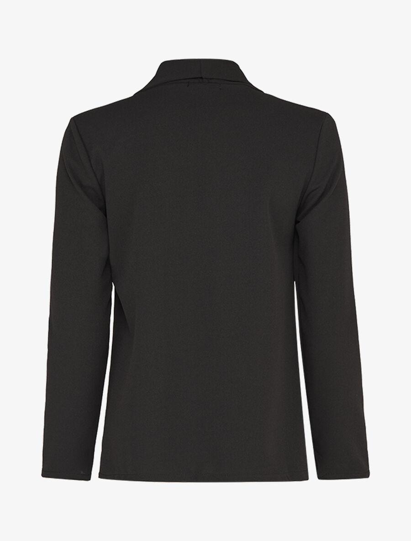 Veste ouverte à encolure droite à rabat - noir image number null