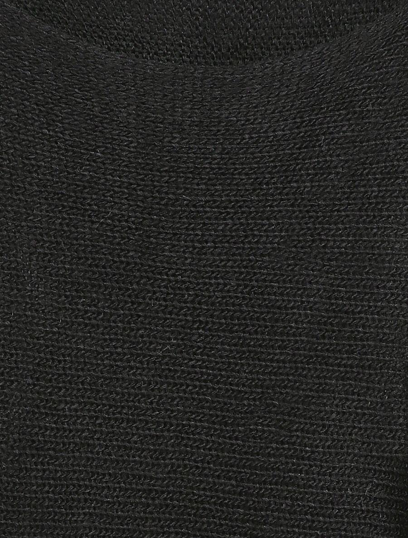 Pull à col bénitier et manches dolman - noir image number null