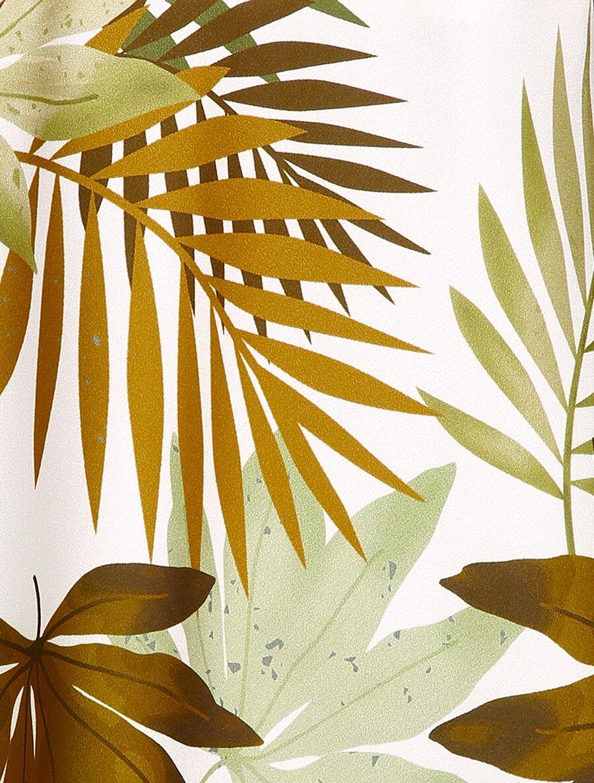 Caraco satiné à imprimé tropical - blanc image number null