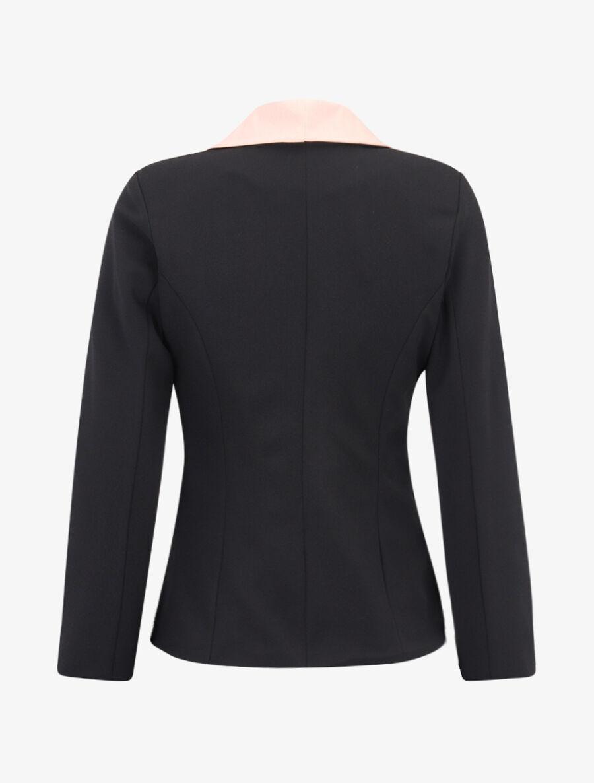 Blazer à encolure et poches contrastantes - noir/rose image number null