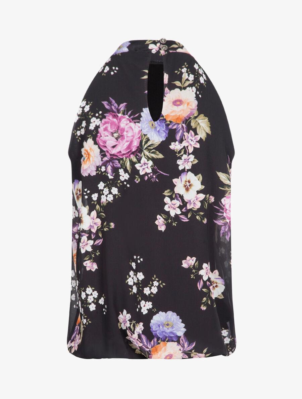 Top boule à imprimé floral - noir image number null