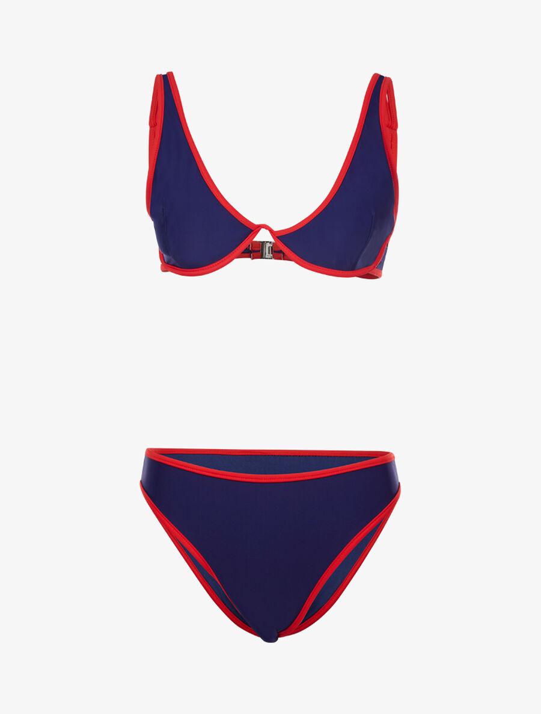Bikini à liserés contrastants - marine image number null