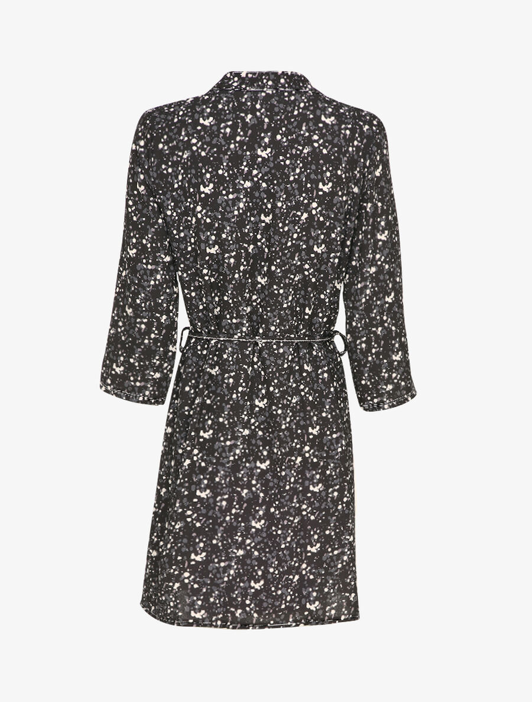 Robe patineuse à imprimé moucheté - noir image number null