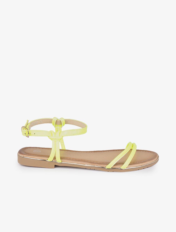 Nu-pieds minimalistes fluo - jaune image number null