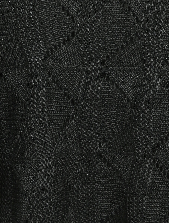 Pull loose en maille geométrique ajourée - noir image number null