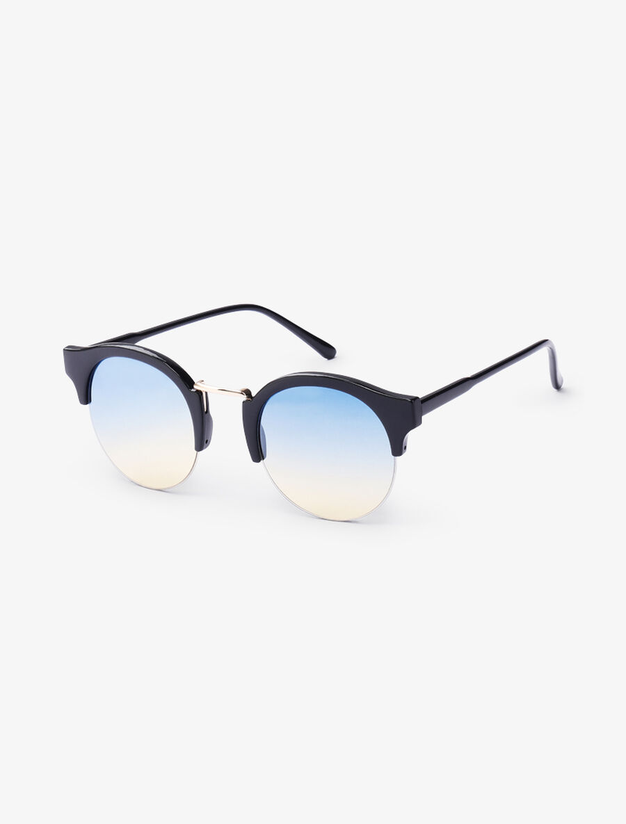 Lunettes clubmaster rondes - jaune image number null